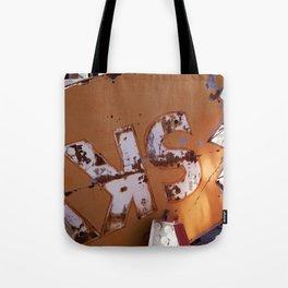 Broken Down Orange Signs in Las Vegas Tote Bag
