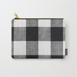 Black and White Buffalo Carry-All Pouch