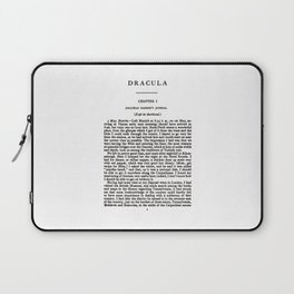 Dracula Bram Stoker First Page Laptop Sleeve