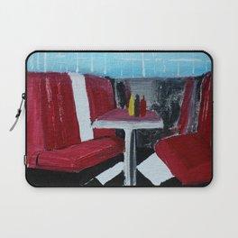 American Diner Impressionist Acrylic Fine Art Laptop Sleeve