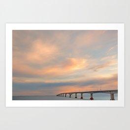 Sunset Sky Bridge Art Print