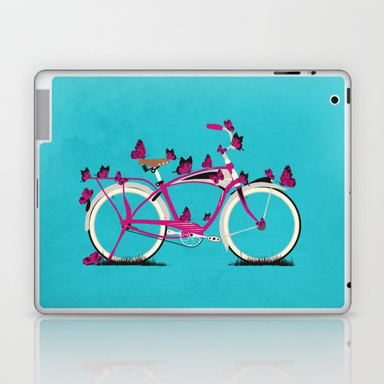 Butterfly Bicycle Laptop & iPad Skin