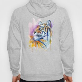 Young Tiger Watercolor Portrait Hoody