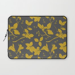 Drawings from Stonecrop Garden, Pattern in Gold & Grey Laptop Sleeve