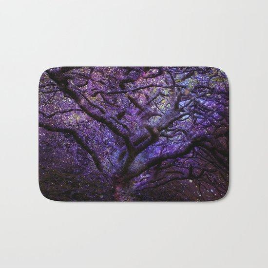 Mystic Tree of Knowledge Purple Bath Mat