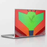 metroid Laptop & iPad Skins featuring Vector Metroid by LoweakGraph