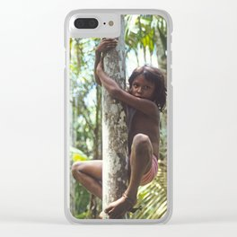 Climbing Trees Clear iPhone Case