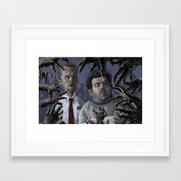 shaun of the dead Framed Art Prints featuring Shaun of the Dead Caricature by Richtoon