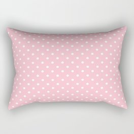 Dots (White/Pink) Rectangular Pillow
