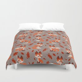 Cute Foxes Duvet Cover