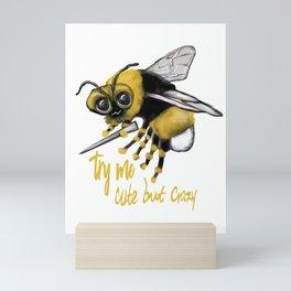 Crazy Bee Mini Art Print