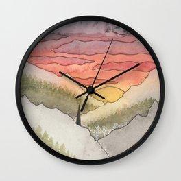 Rusty Light on the Pines Wall Clock
