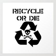 Recycle Black Art Print