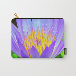 Blue-Purple Water Lilly Flower Carry-All Pouch