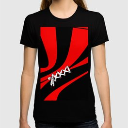 Laced up in Black and Red T-shirt