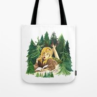 laura palmer Tote Bags featuring Twin Peaks Secret Diary of Laura Palmer by Lindsey Caneso