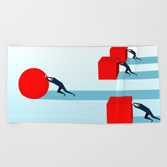 Work smarter Beach Towel