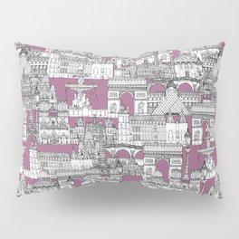 Paris toile raspberry Pillow Sham