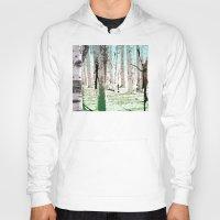 birch Hoodies featuring Birch Forest by Phil Perkins