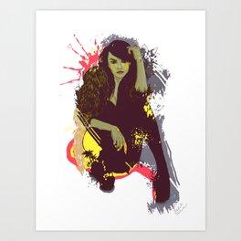 woman K. Art Print