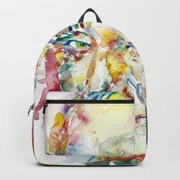 FRANCIS CRICK - watercolor portrait Backpack