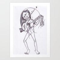 STRINGLESS RESITAL Art Print