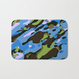 green blue and brown camouflage graffiti painting abstract background Bath Mat