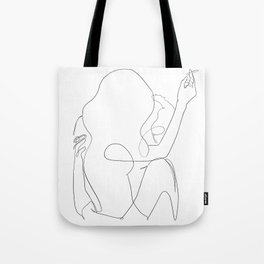 minimal line art - kiss Tote Bag