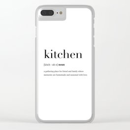 Kitchen definition Clear iPhone Case