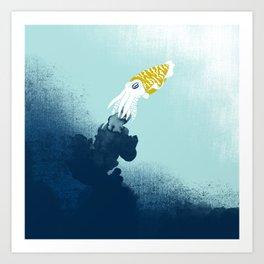 Intelligent Inker - Cranky Cuttlefish Art Print