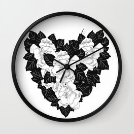 Gardenias Wall Clock