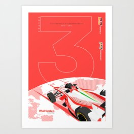 Mahindra Racing FIA Formula E Season Three Poster Art Print