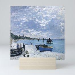 Claude Monet : Regatta at Sainte-Adresse / The Beach at Sainte Adresse Mini Art Print