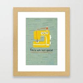 Sew Special Framed Art Print