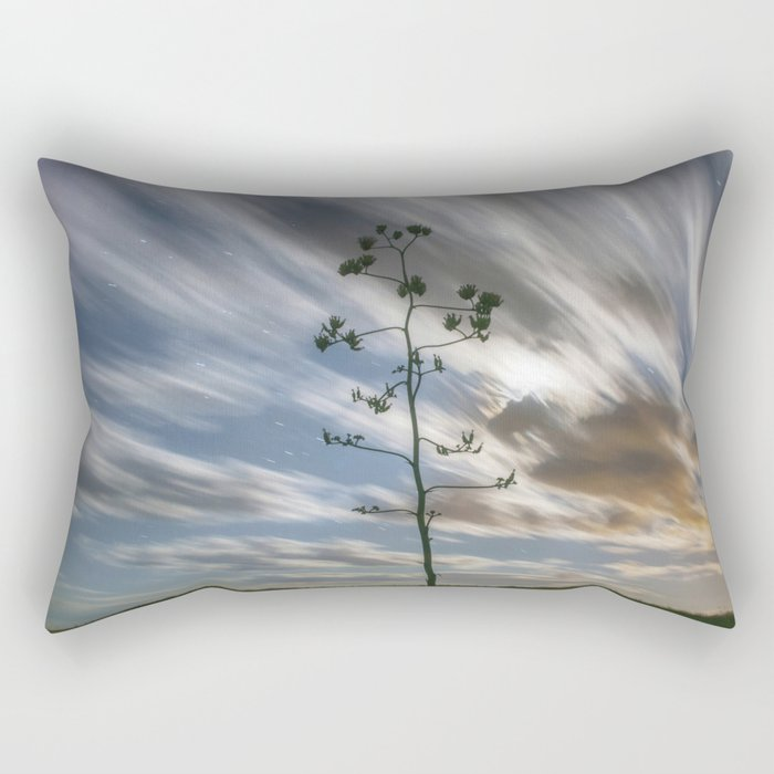 """Moonlit Skyscape"" by Murray Bolesta Rectangular Pillow"