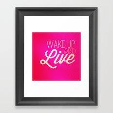 Don't waste it.  Framed Art Print