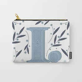 Letter L initial Carry-All Pouch