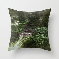 woodland Throw Pillows featuring Woodland by Geni