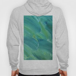 Blue-Green Brush Strokes Hoody