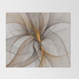 Elegant Chaos, Abstract Fractal Art Throw Blanket