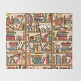 Bookshelf No. 1 Throw Blanket