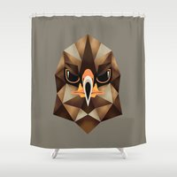 hawk Shower Curtains featuring Hawk by KUI29