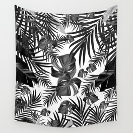 Tropical Jungle Leaves Pattern #10 (2020 Edition) #tropical #decor #art #society6 Wall Tapestry