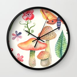 After the Summer Rain Wall Clock
