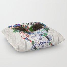 Ruzgars Skull Floor Pillow