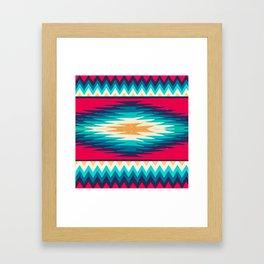 SURF GIRL CHEVRON Framed Art Print