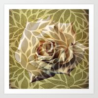Gold Pattern Art Print