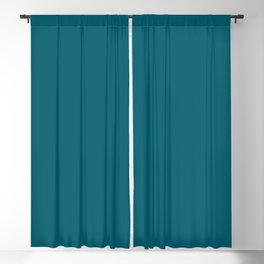 Sherwin Williams Trending Colors of 2019 Oceanside (Dark Aqua Blue) SW 6496 Solid Color Blackout Curtain
