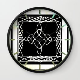 Celtic Deco Black and White Wall Clock