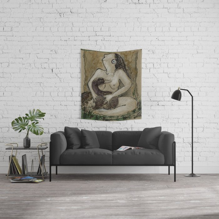 Leda and the swan Wall Tapestry